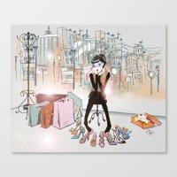 City Boutique Two Canvas Print