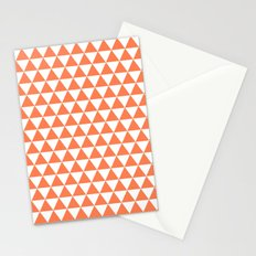 Triangles (Coral/White) Stationery Cards