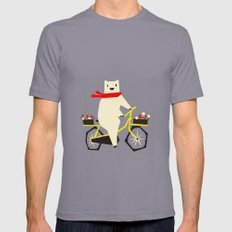 Yeti Taking a Ride Slate SMALL Mens Fitted Tee