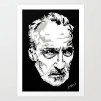 Sir Christopher Lee Art Print