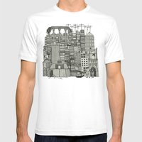 dystopian toile mono Mens Fitted Tee White SMALL