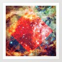 Stars on Fire Art Print