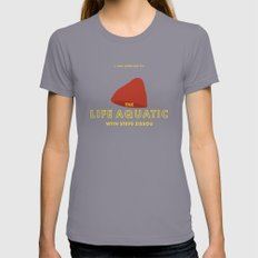 The Life Aquatic with Steve Zissou Beanie Poster Womens Fitted Tee Slate SMALL