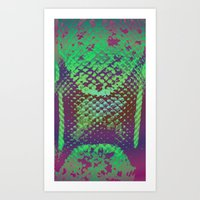 A Scaly Surprise Art Print