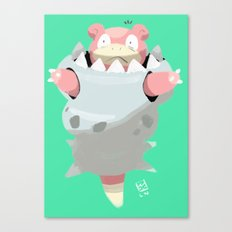 Mega Uncomfortable Slowbro Canvas Print