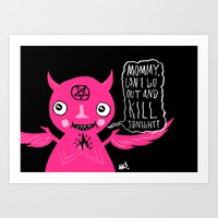 Sweet Baby Demon Art Print
