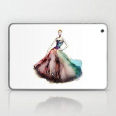 Joan Crawford | Prima Ballerina Girl in Fashion colors Red Green Blue Violet Pink Dress Cinderella Laptop & iPad Skin