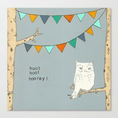 Hoot Hoot Hooray Canvas Print
