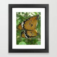 Butterfly Mirror Framed Art Print
