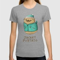 Jacket Pugtato Womens Fitted Tee Tri-Grey SMALL