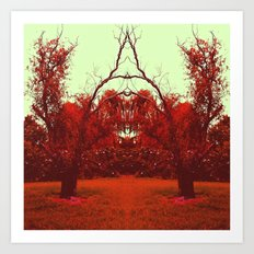 Red Reflection Art Print
