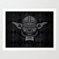 Darth Yoda Gas Mask Art Print
