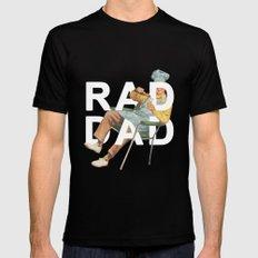 Rad Dad MEDIUM Black Mens Fitted Tee