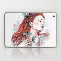 Girl With A Butterfly, W… Laptop & iPad Skin
