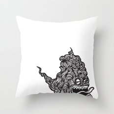 Hairy Smoke Bastard #1 Throw Pillow