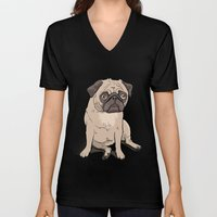 Lilly (pug) Unisex V-Neck