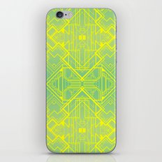 Art Deco Pattern in Green and Gold iPhone & iPod Skin