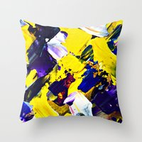Yellow Intersections Throw Pillow