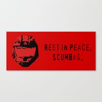 Red Vs. Blue - Rest In P… Canvas Print
