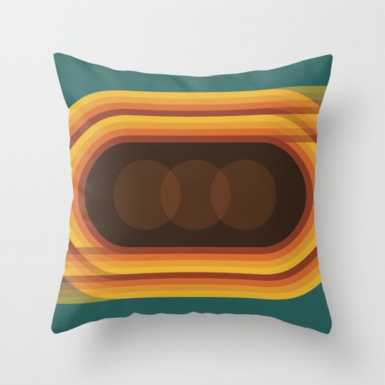 Retro Track Throw Pillow