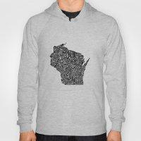 Typographic Wisconsin Hoody