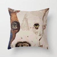Pit Bull Portrait Throw Pillow