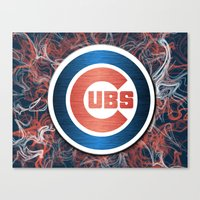 Cubs swirl Canvas Print