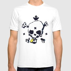 XXX Skull C SMALL Mens Fitted Tee White