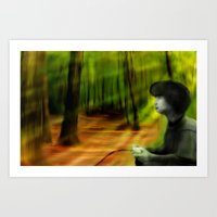 Playing Outside Art Print
