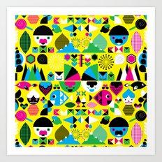 Geomonsters Art Print