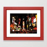 Time Square Doesn't Sleep Framed Art Print