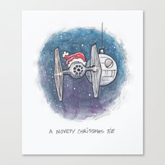 A Novelty Christmas TIE Canvas Print