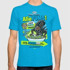 AlieYUMS! (blue variant) Mens Fitted Tee Teal SMALL