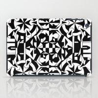 Black and White Square 1 iPad Case