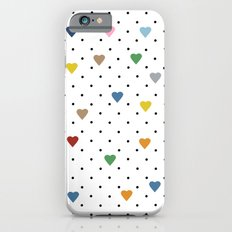 Pin Point Hearts Slim Case iPhone 6s