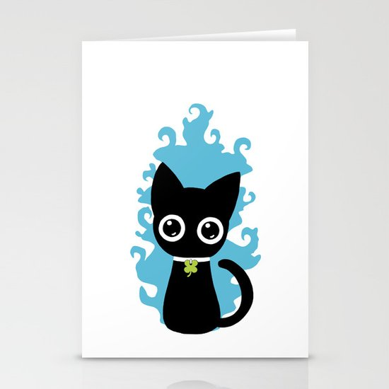 Lucky Cat Stationery Card