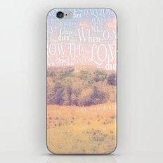Love Dies  iPhone & iPod Skin