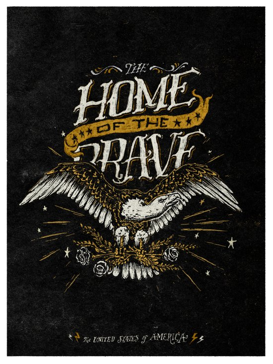 Home of the Brave Art Print