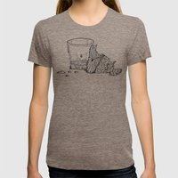 Thirsty Grouse Womens Fitted Tee Tri-Coffee SMALL