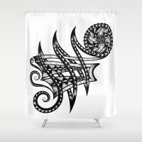 Shoulder Band Tattoo  Shower Curtain