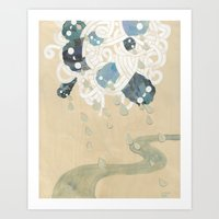 Out Of All Them Bright S… Art Print