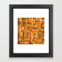 Orange landscape Framed Art Print