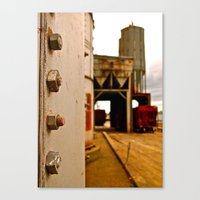 Canvas Print featuring Grain depot by Vorona Photography