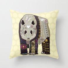 chocolate panda straw Throw Pillow