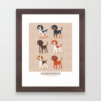 Coonhounds! Framed Art Print