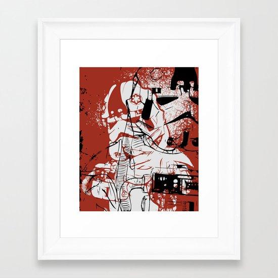 AT-AT Driver and Navigator Framed Art Print