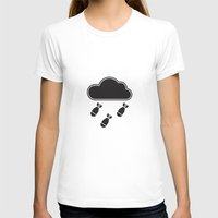 Cloudbomb Womens Fitted Tee White SMALL