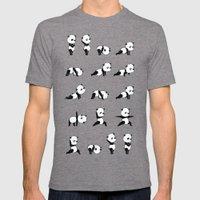 Yoga Bear - Panda Mens Fitted Tee Tri-Grey SMALL