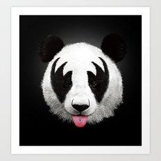 Kiss of a panda Art Print