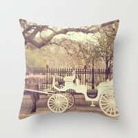 New Orleans Carriage Rid… Throw Pillow
